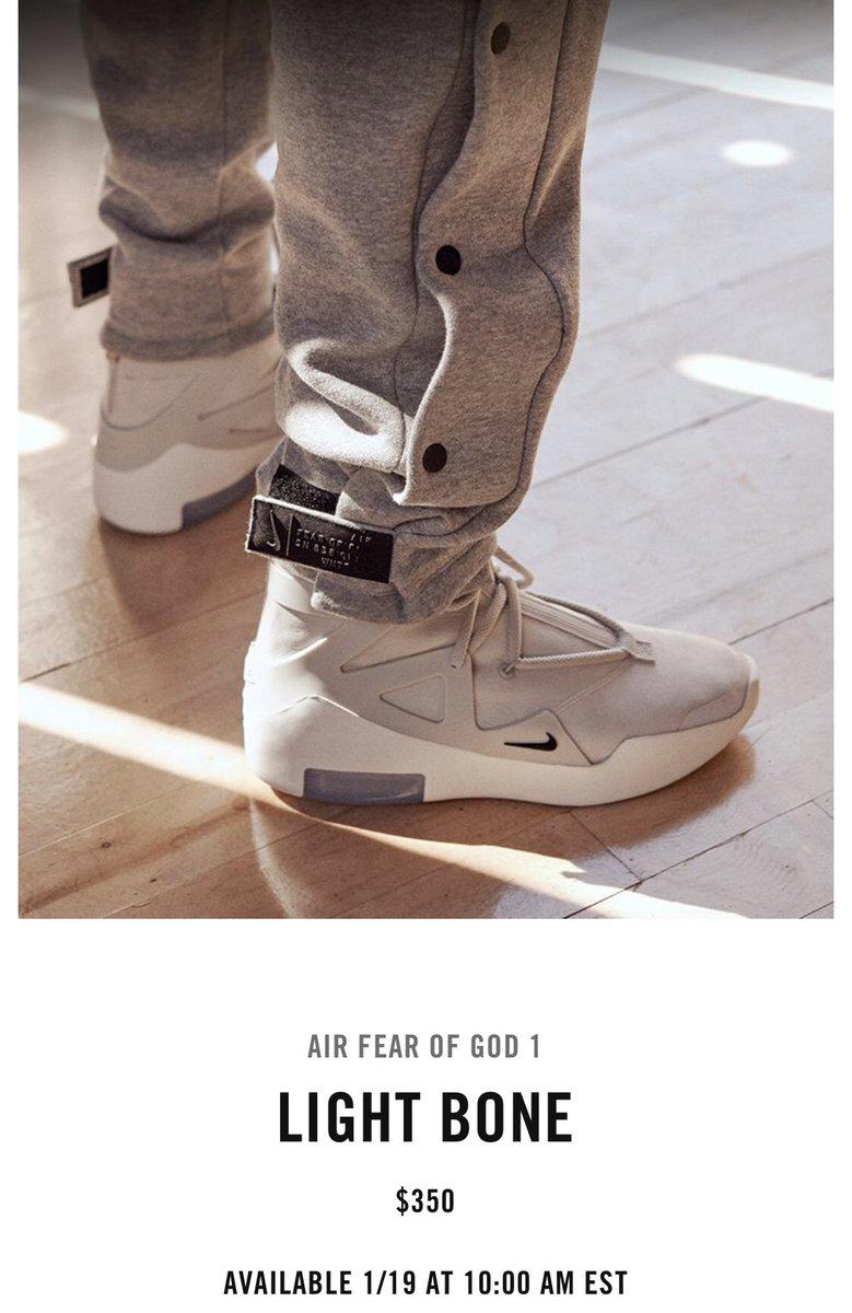 Nike Air x FOG 'Light Bone' drops