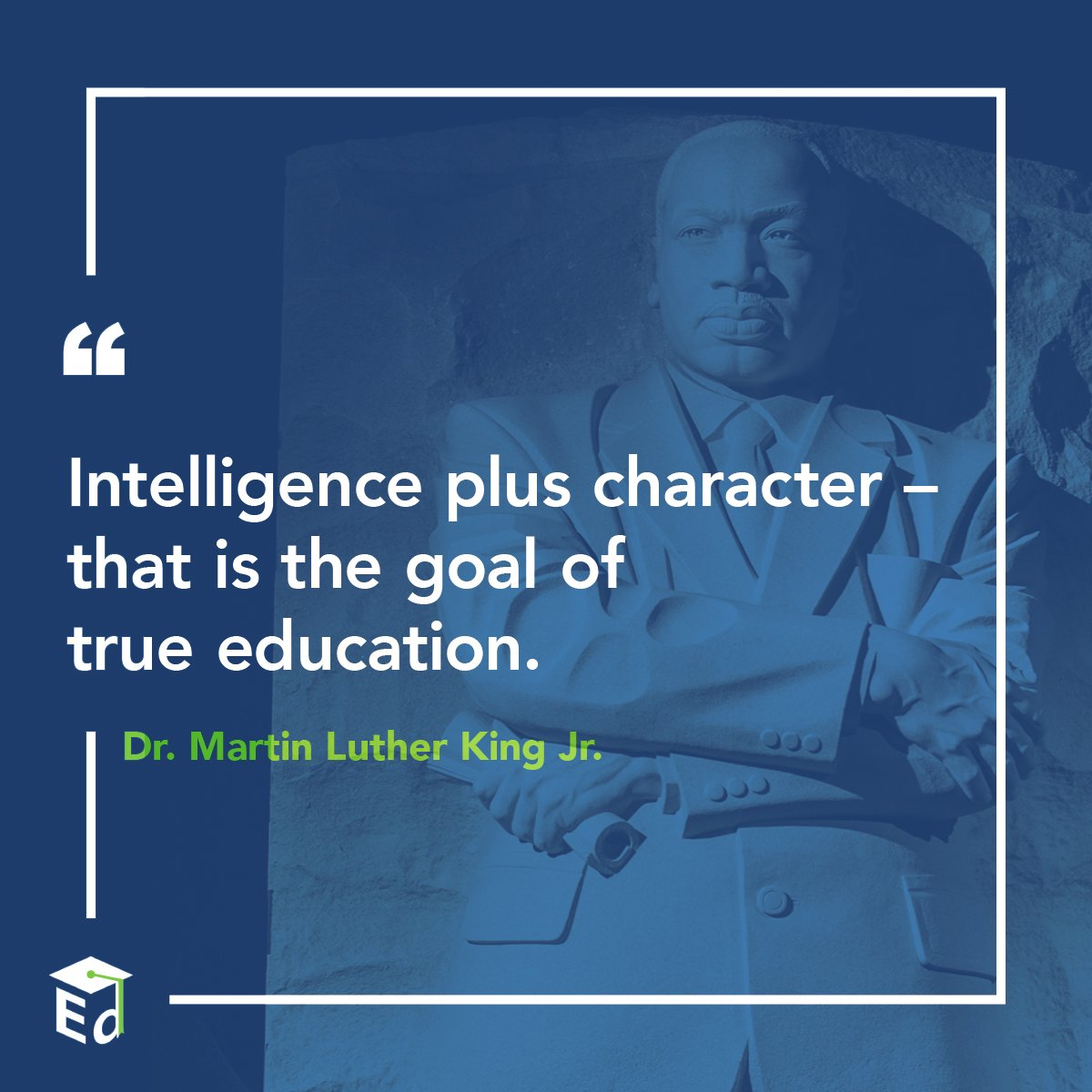 'The function of education...is to teach one to think intensively and to think critically.' – Dr. Martin Luther King Jr. #MLKDay
