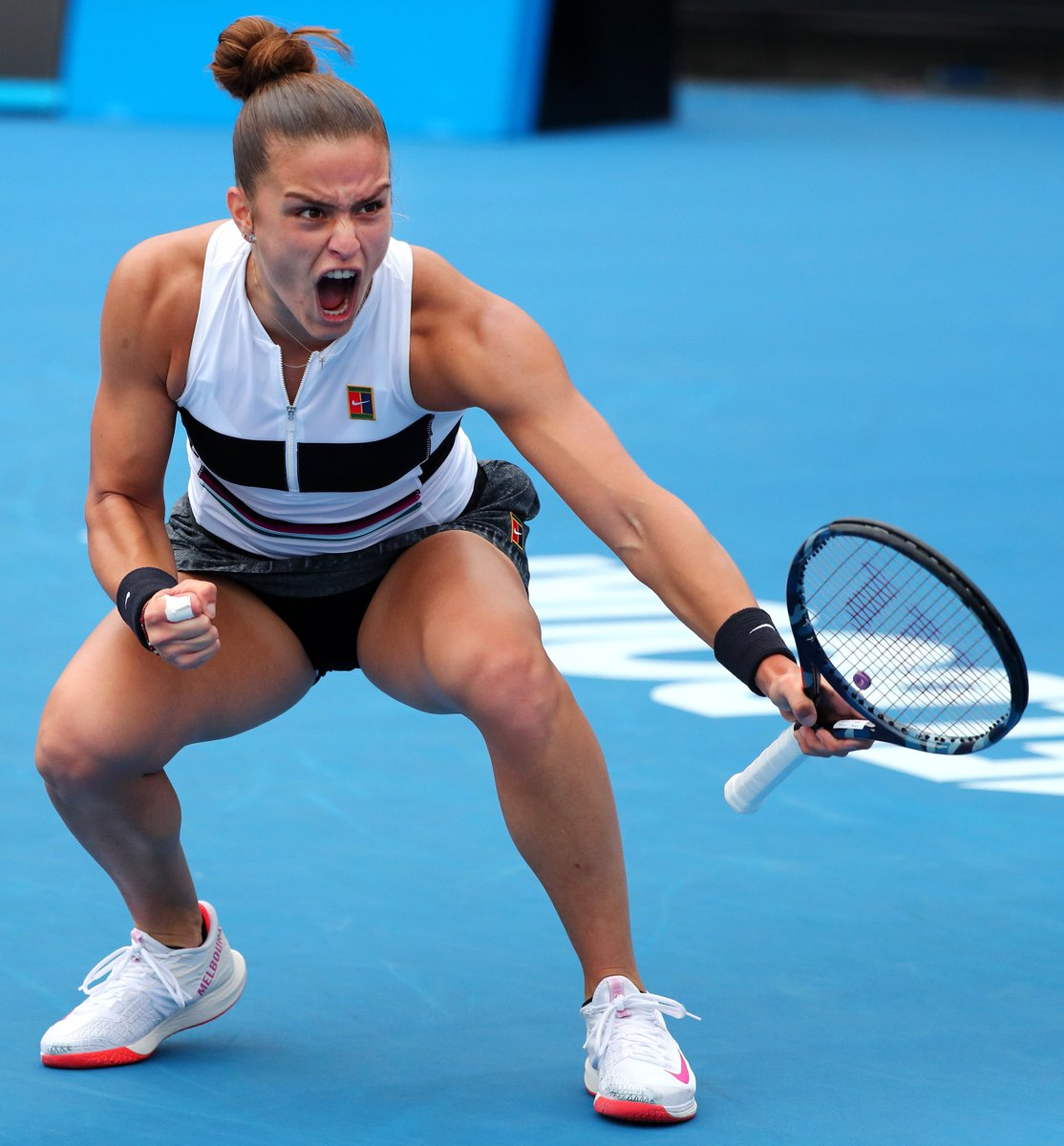 Look out, Australia! MSVC fan fave and fellow Spartan @mariasakkari is surging through the #AusOpen draw!