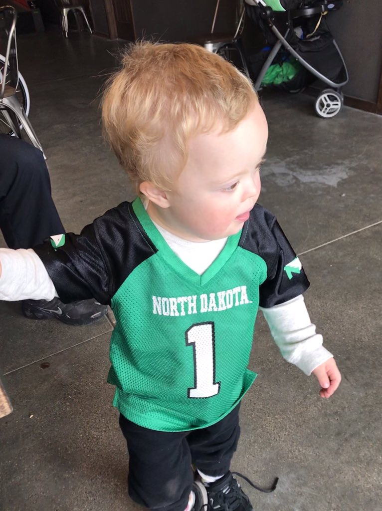 Probably too young for this position, but Cutler James would make an amazing honorary FIGHTING HAWK or team captain!!!!💚💚💚#cutlerjames #hawks #downsyndrome