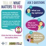 #Ask3Questions is all about involving patients in their healthcare choices with their GP or consultant. What patients chose to do depends on what matters to them most #MakingChoicesTogether https://t.co/wdYYVPgCYx