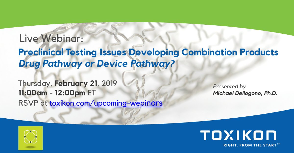 Do you have a combo #medicaldevice? Not sure if #regulatory sees you as a device or a #drug? Join our complimentary webinar on February 21 at 11AM and learn how to select the correct testing pathway! RSVP today at https://goo.gl/HzzkVB
