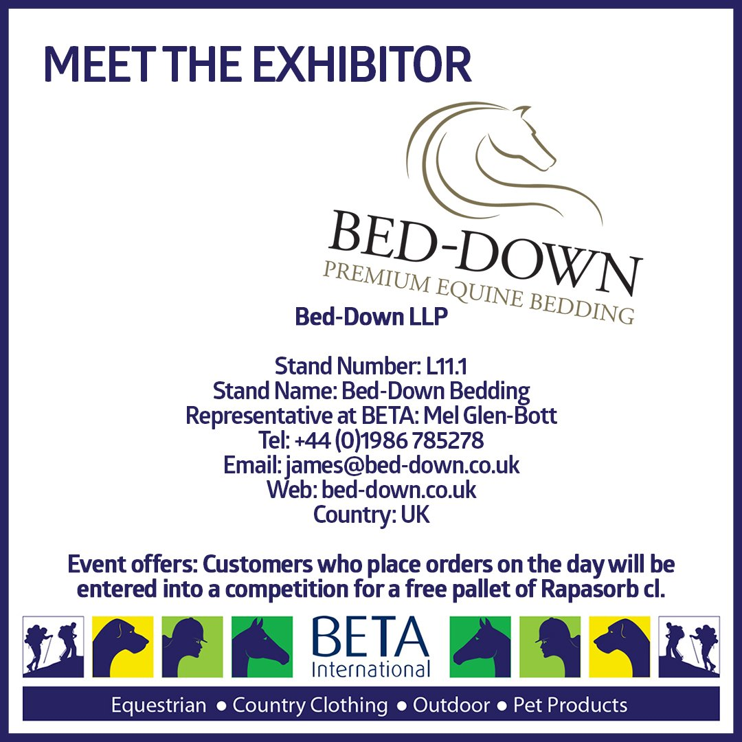 If you're off to @BETA_Int @betaequestrian visit our stand L11.1 and see first hand why @Tickle_Dressage @SimonjGrieve @MsLottieLee  @staceyshimmons proudly use #beddownbedding products #beddown #maketheswitch #momentumofchange #betterbritishbedding #stockupforwinter #BETAInt19 https://t.co/oP1vJqJTcJ