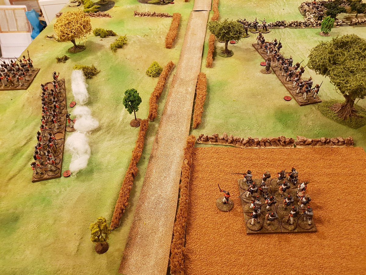 &quot;Take those men round the hill Sergeant Perrins and clear the Voltigeurs from behind those walls while I occupy their main force&quot; barks Captain Lee. &quot;Indeed sir, but won&#39;t you be a bit outnumbered?&quot; &quot;Dammit Sergeant, just be quick about it&quot; #SP2 #Sharppractice  #spreadthelard<br>http://pic.twitter.com/0tx6dJzSYA