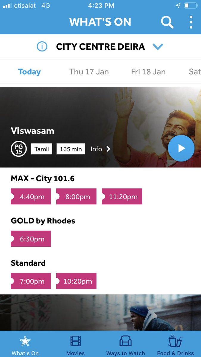 Wow Oh God what's happening, first time #Viswasam show counts more than #Petta in #Dubai #VoxCinemas  #ViswasamPongalWinner @directorsiva @SathyaJyothi_ @kjr_studios @ThalaAjith_FC @AjithFC_UAE<br>http://pic.twitter.com/xBvSu6q0He