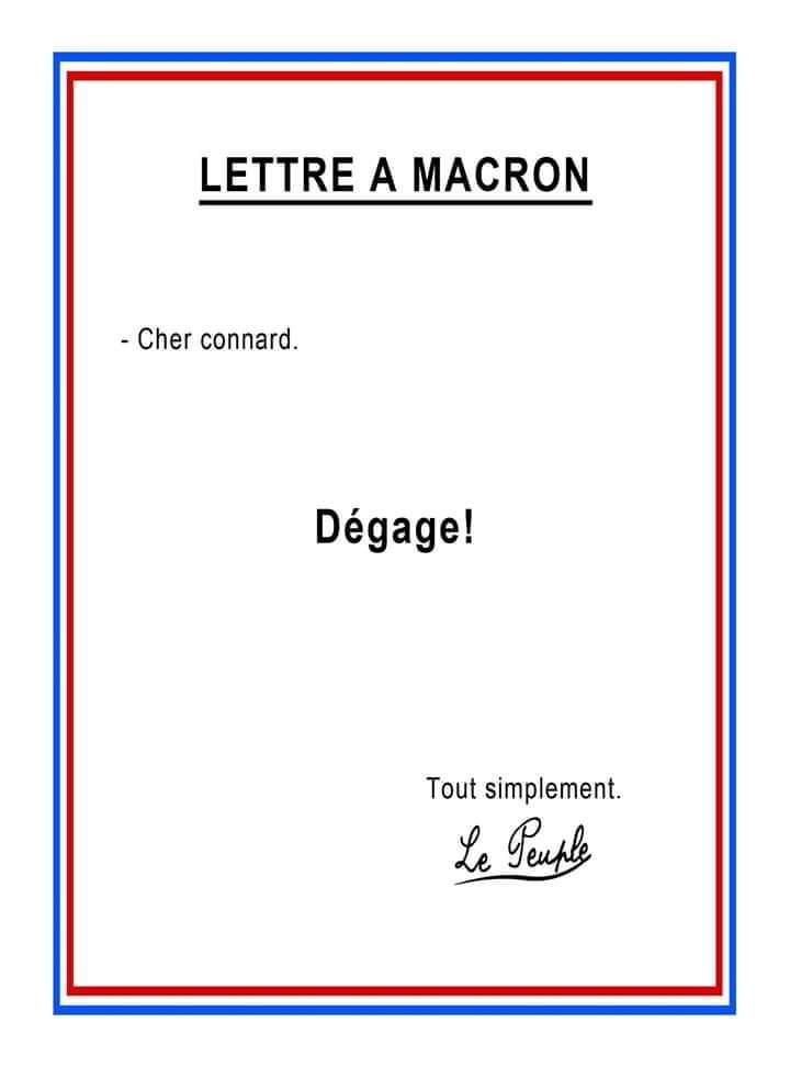 Le peuple, à son tour, envoi une lettre à #Macron https://t.co/FgsvQVwftm