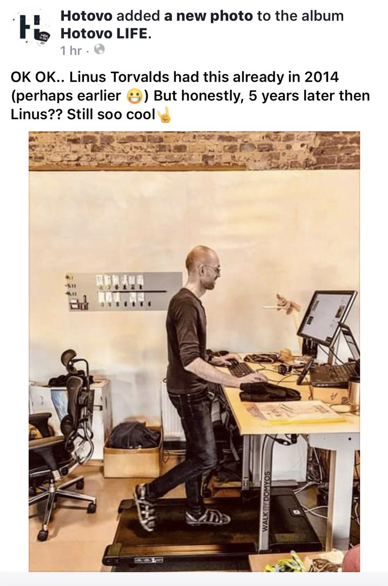 OK OK.. Linus Torvalds had this already in 2014 (perhaps earlier 😀) But honestly, 5 years later then Linus?? Still soo cool🤘 #fitnessgoal2019 #teamoftheyear