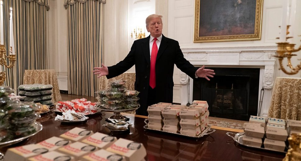 Donald Trump's fast food reception for the Clemson Tigers at the White House has grabbed the headlines.  But there are some athletes who would feel right at home with the President's menu.   @bbcthree take a look 👉 https://t.co/GcCj3TEhPB