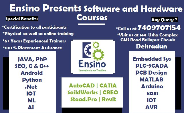 Ensino Research and Development Pvt  Ltd  (@Ensinoddn) | Twitter