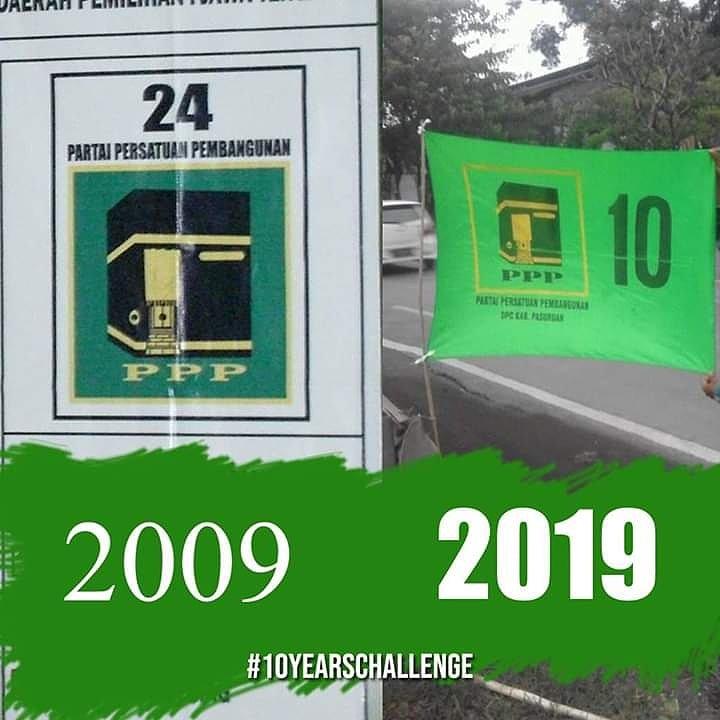 PPP tetap dipilih  #10yearchallenge😂  #10yearscallege  #10callenge  #PPP10Sempurna  #sepuluhlewatsepuluh  #ppp #pppmuda #Partaipersatuanpembangunan  #10yearchallege