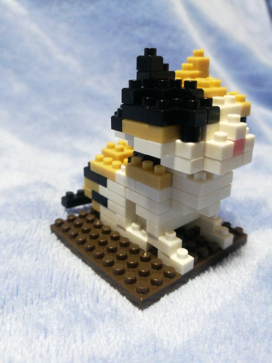 test ツイッターメディア - ダイソーのプチブロック(三毛猫) 作ってみました。 手先が不器用だから、時間かかった… どこかブロックが抜けているような気がする。  #ダイソー #プチブロック #プチブロック三毛猫 #三毛猫ブロック https://t.co/xNB2PHpeqP