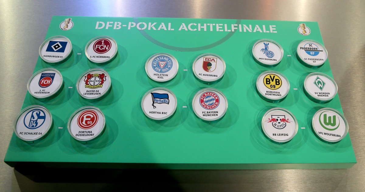 Just 20 days until these tasty last-16 encounters get underway! 🏆 #DFBPokal