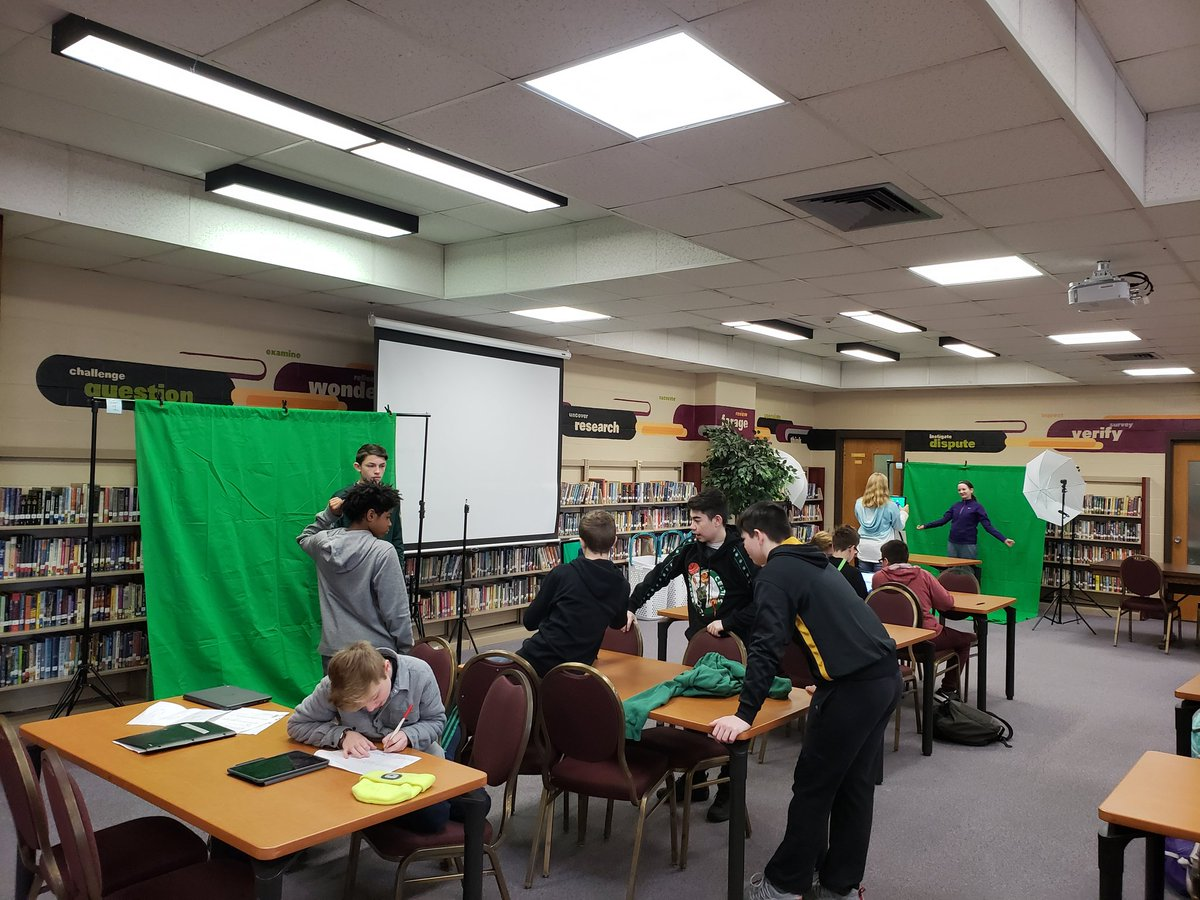 Green Screens up and running! Thanks @TEDEdFound! #scitlap #lablife315