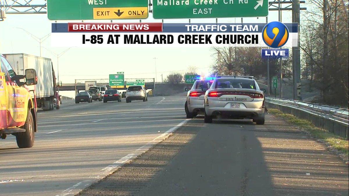 UPDATE: Ramp now OPEN I-85 NB to Mallard Creek Church #cltraffic #clttraffic #clt<br>http://pic.twitter.com/MQhfSkGkc4
