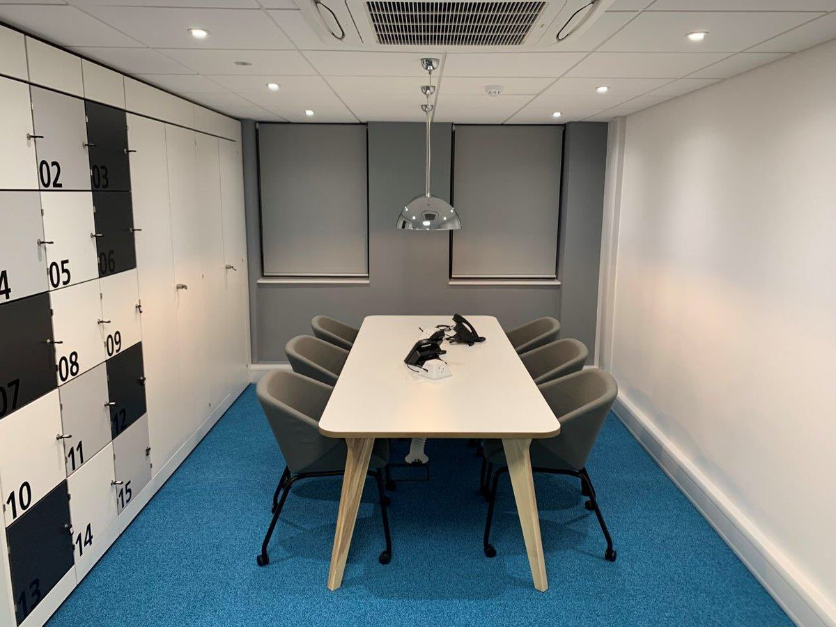 Desks theyre rarely in the office so the old space has now been put to better use officeinteriors officedesignpic twitter com 6he4pxypcp