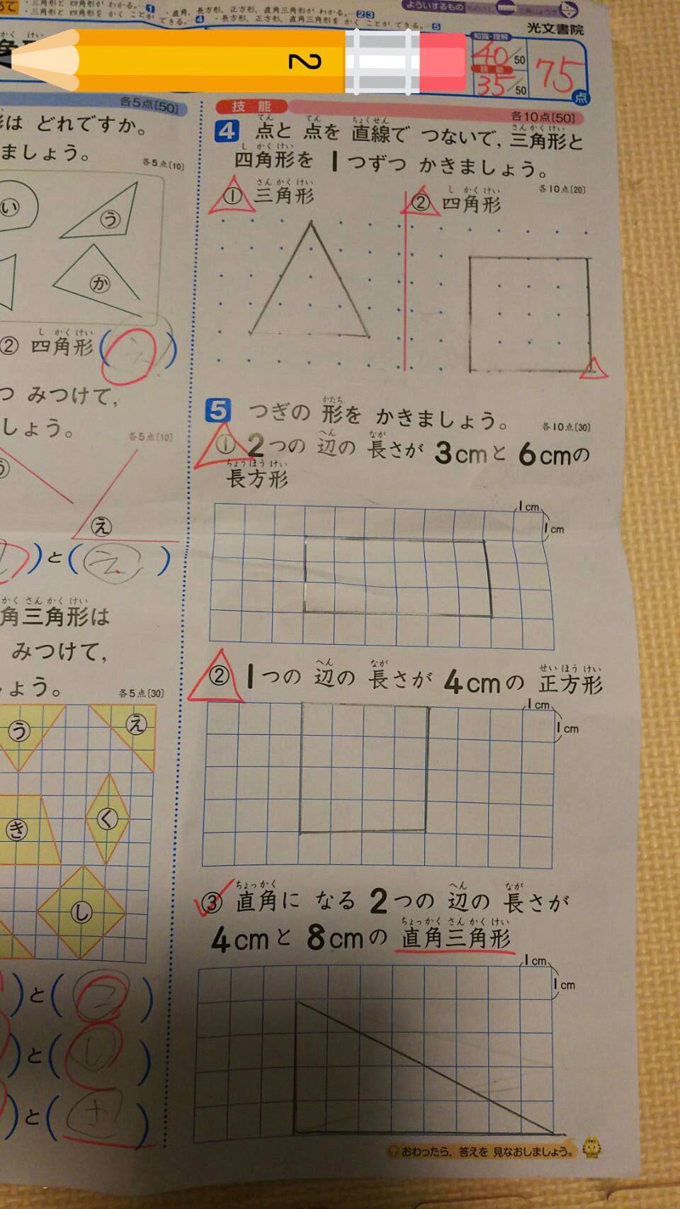 小学校の図形の問題丸をもらえない理由を考えるほうが難問