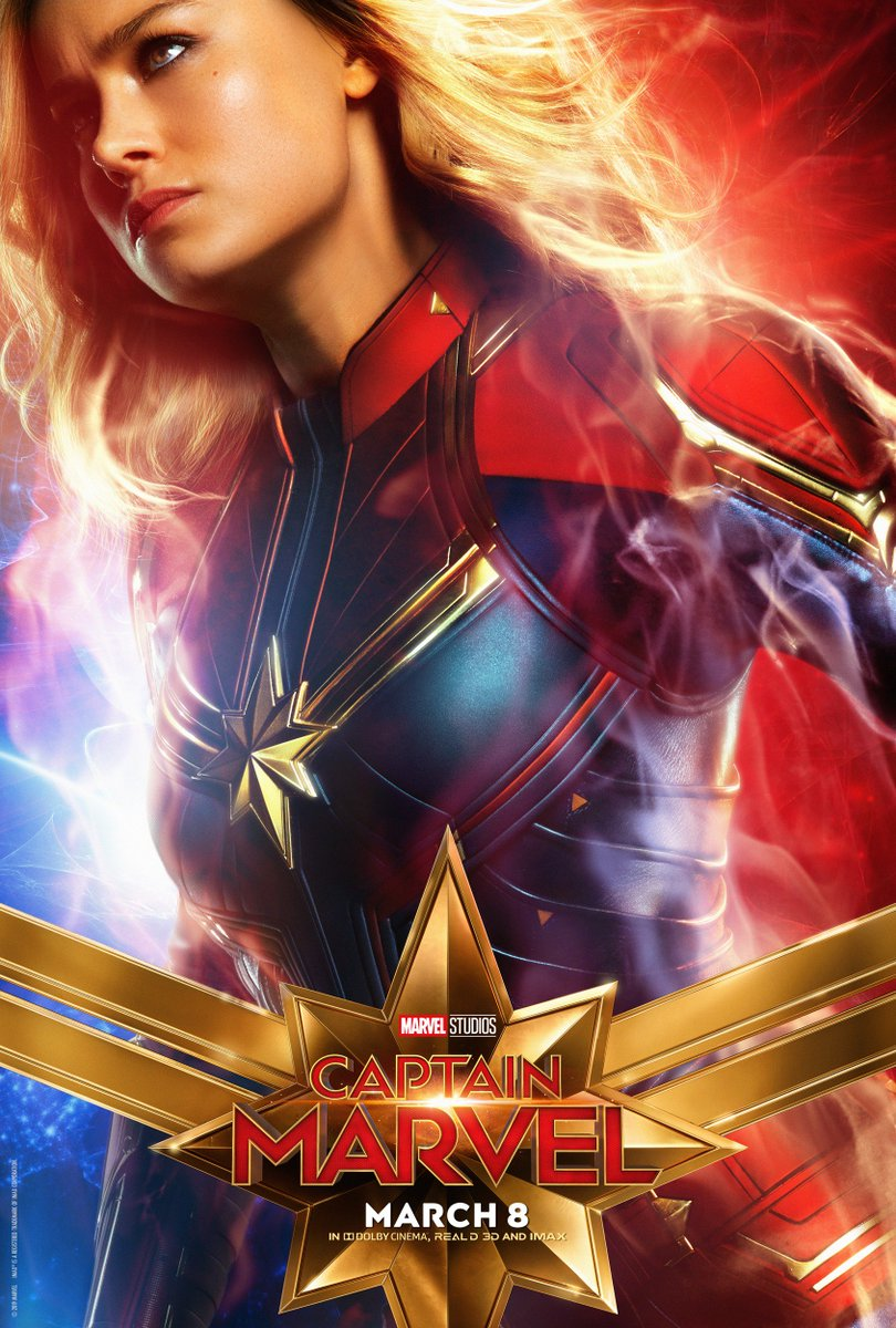 50 days. Check out these brand new character posters, and see Marvel Studios' @captainmarvel in theaters March 8th! Get tickets now: https://t.co/BVi7DJbgyV (1/3)