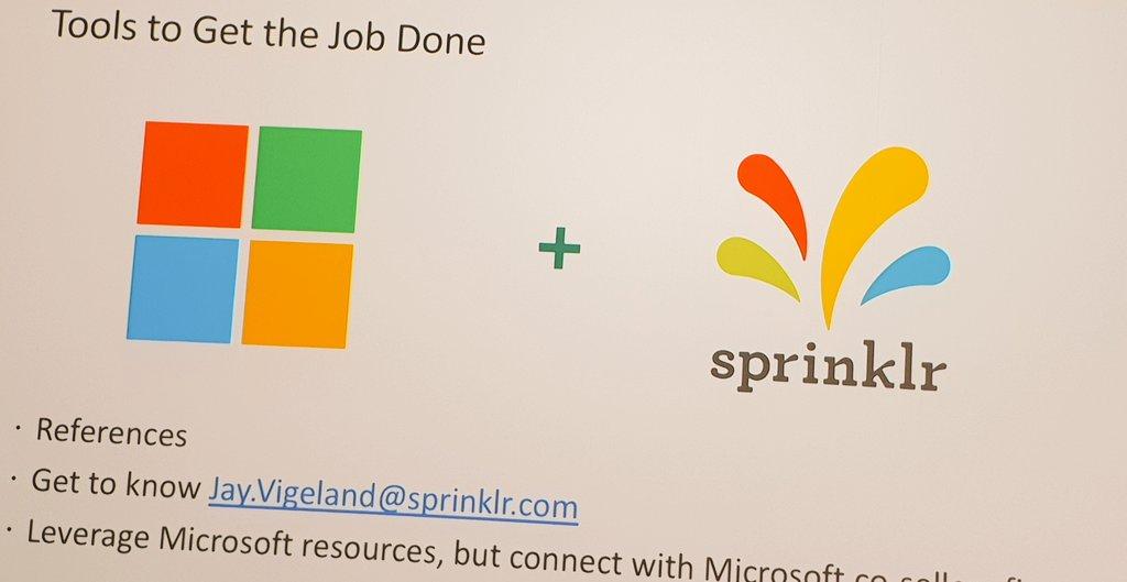 @Microsoft + @Sprinklr = ❤ #sprinklrlife #ASKO2019 – at Hyatt  Regency  Convetion  Center