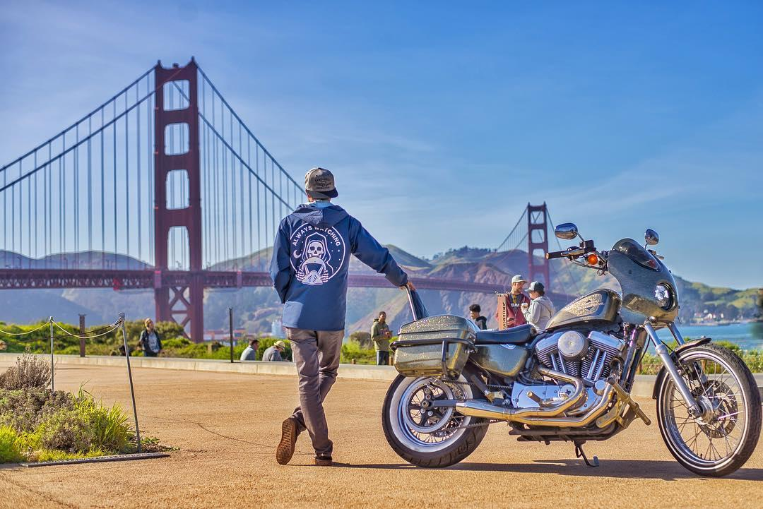 No show piece here. That Hard Candy Custom Sportster has seen 27,000 miles in the past year, including the Golden Gate Bridge.  📷 Kody M.  #FindYourFreedom #HarleyDavidson