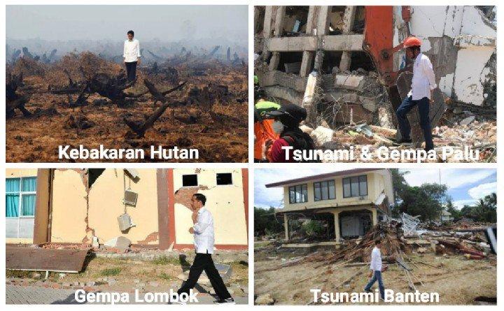 #RakyatSudahMuak melihat presiden yang hobinya selfi, bahkan di tempat bencana sekalipun
