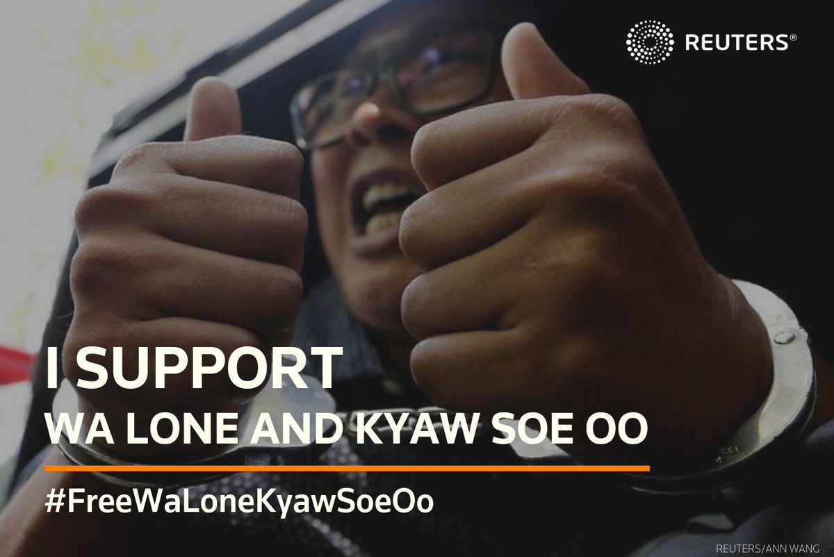 Starting another day working as a journalist, surrounded by family as the day begins. Mindful that my colleagues are still behind bars more than one year on for doing their jobs. Journalism is not a crime. #FreeWaLoneKyawSoeOo