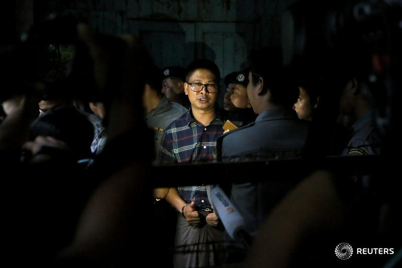 Two @Reuters journalists have been imprisoned in Myanmar for 401 days. Follow updates on the case: https://reut.rs/2FDiXoD