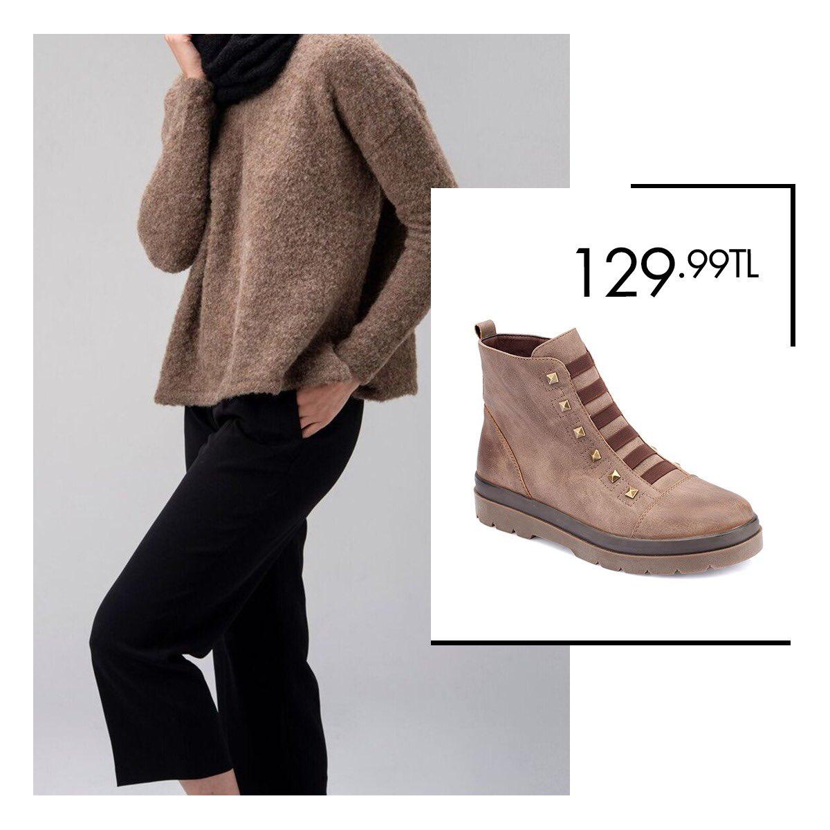 Salaş kazaklarınız ve siyah pantolonlarınızın tamamlayıcısı olacak vizon botlarla stiliniz hep ön planda! Vizon Kadın Bot 36-40 Numara 129,99 TL 🔎 100335079 http://bit.ly/2AOzv9X