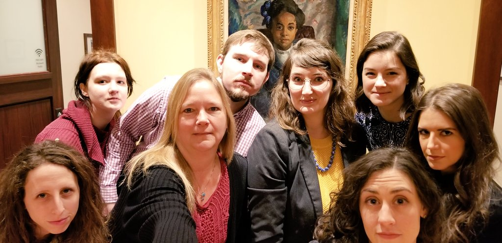 Happy #MuseumSelfieDay! Rockwell staff started the day with some serious #smizing with Gwendolyn by John Sloan, on loan from @americanart.  #smize #museumlife