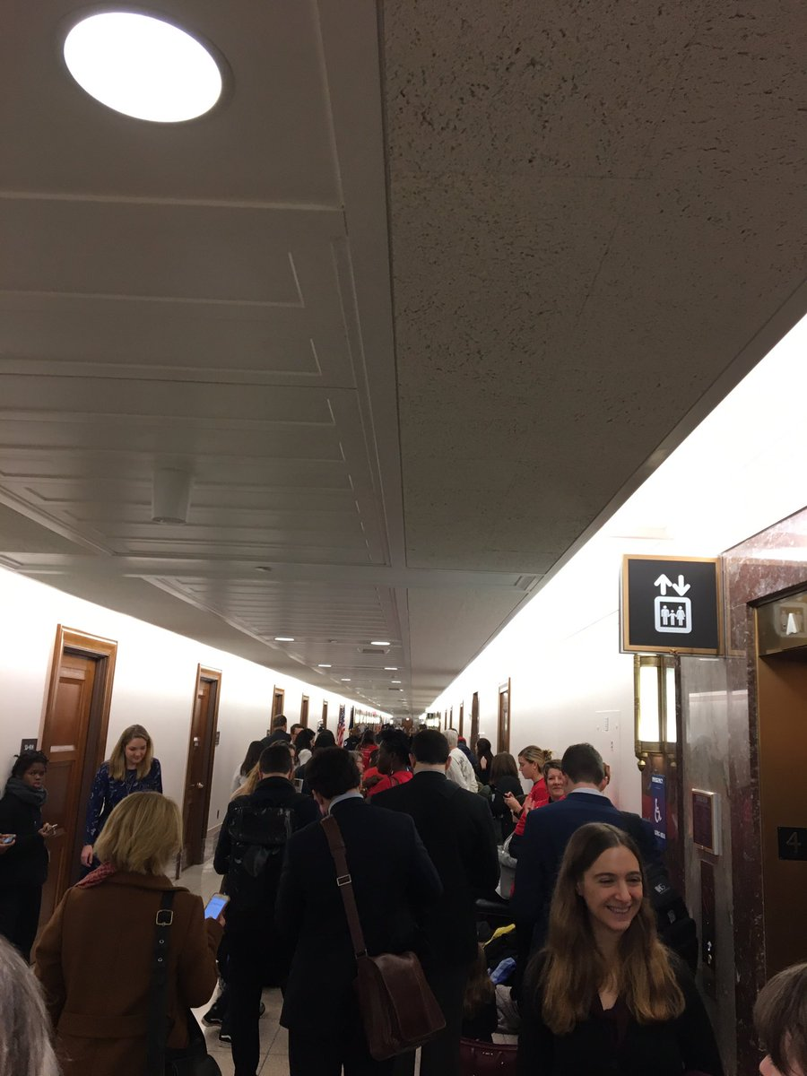 Long lines here in Dirksen to #StopWheeler! Glad to be repping @YECAction in the room of Wheeler's hearing! We need an @EPA Administrator committed to climate action and @EPAAWheeler has already proven unfit for that role. #ActOnClimate <br>http://pic.twitter.com/jqWyiO0qpt