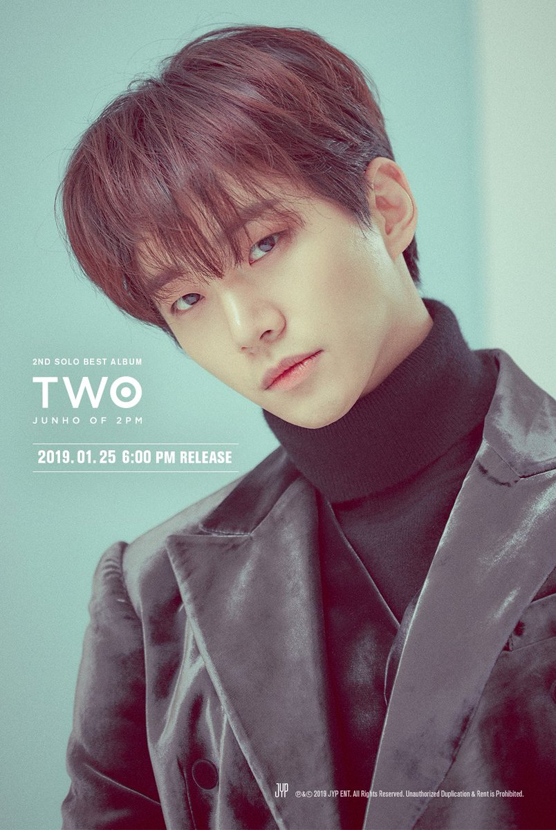 JUNHO (2PM) 2ND SOLO BEST ALBUM <TWO>   Teaser Image ②  2019. 1. 25 PM 6:00  #2PM #JUNHO  #준호 #이준호  #TWO