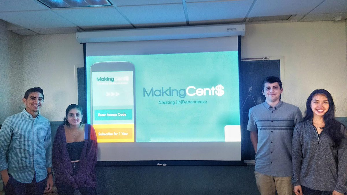 test Twitter Media - Congrats to Eunes Harun '20, Sanya Bery '21, Joey Ellis '19, and Marcia Saetang '19, grand prize winners of a recent Entrepreneurship Foundation competition for their financial literacy app, MakingCent$! https://t.co/CTVGBN9MUe https://t.co/OvLvqJ9FEM
