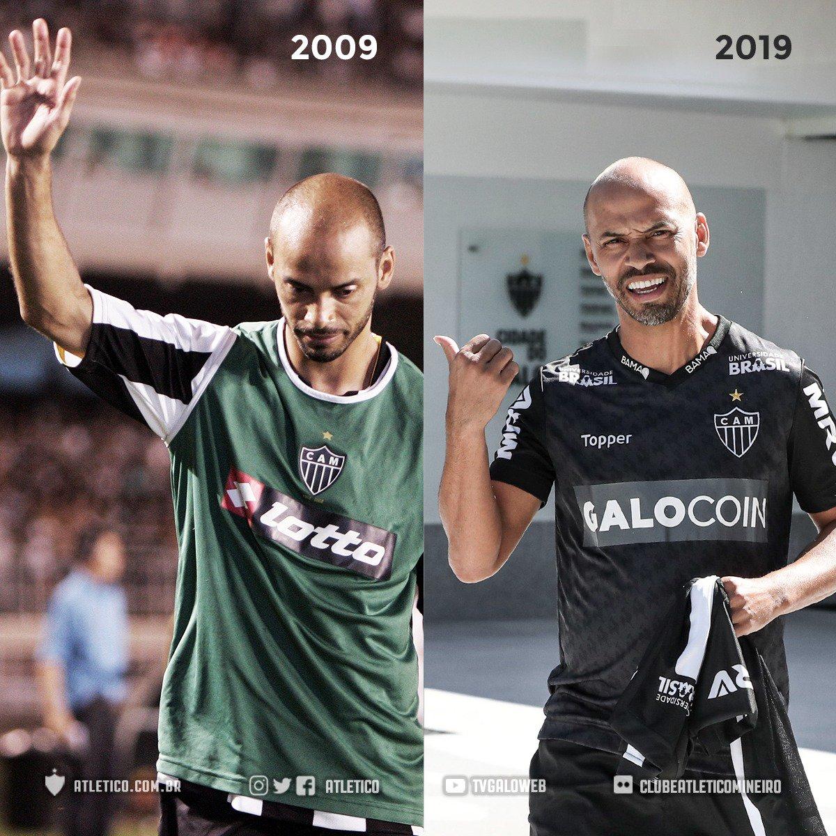 2009 🔙 Olê, Marques! ➡ 2019  #10YearChallenge #DesafioDos10Anos  #Galo 🏴🏳