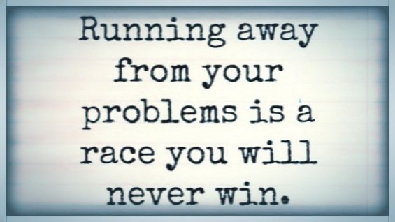 Running away from your problems is a race you will never win.  #WednesdayWisdom #quote<br>http://pic.twitter.com/KC0P7bHnGh