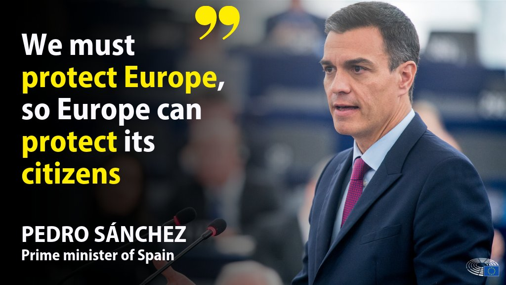 Spanish prime minister Pedro Sánchez debated today the #FutureofEurope with MEPs. Sánchez talked about:       ✅ Women's rights ♀   ✅ Brexit 🇬🇧 🇪🇺   ✅ Catalonia     Read the main points here ➡  https://t.co/ewXRyKOBBe