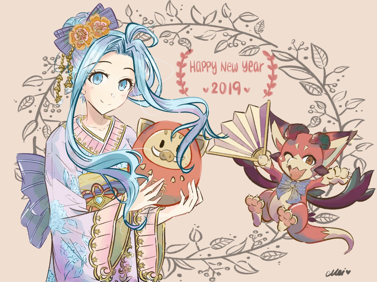 i&#39;m 2 weeks late but happy new year &amp; good (gacha) luck to everyone in 2019!!!  #グラブル #granbluefantasy<br>http://pic.twitter.com/qz3zWtnNCJ