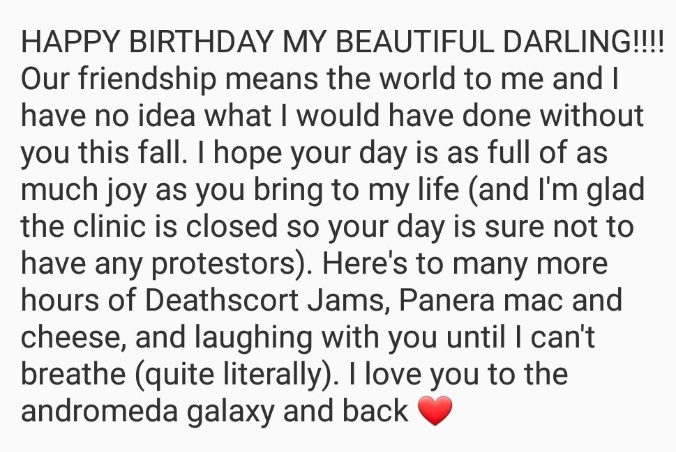 happy birthday @rachelochs I think this paragraph says it all 💗💖💕