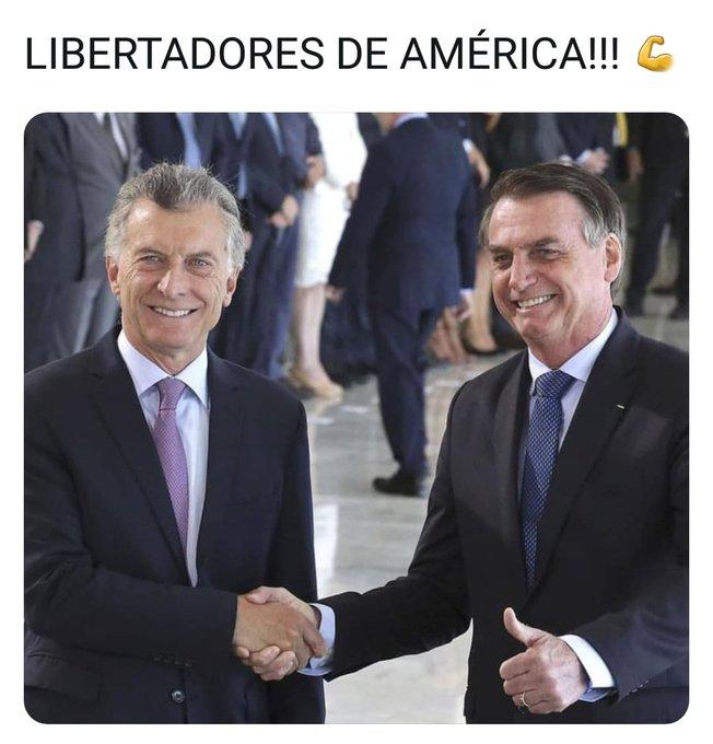 Macri y Bolsonaro, los Libertadores de América 🙂👏🏻👏🏻👏🏻 #BuenMiercoles Foto