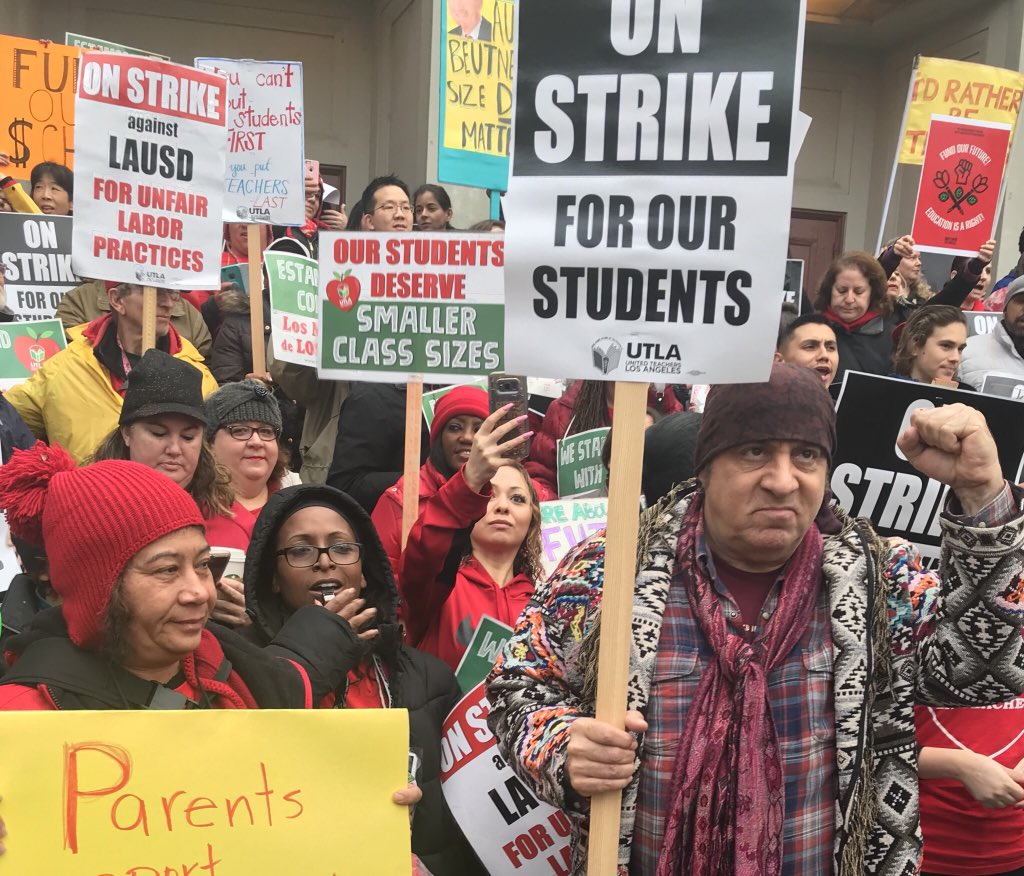 The Los Angeles teachers' strike keeps growing as the standoff 'feels like ... playing chicken'