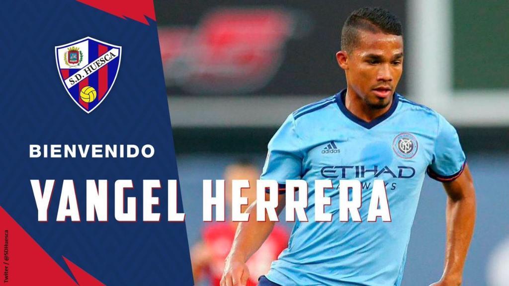 OFICIAL | ¡Yangel Herrera es nuevo jugador del @SDHuesca! Y este sábado lo verás en la pantalla de @DIRECTVSports 👏⚽🇻🇪  #LaLiga #FútbolEnDIRECTV🇪🇸