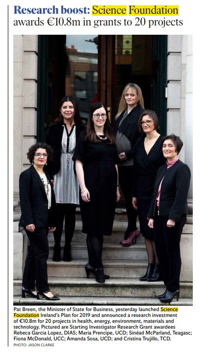 test Twitter Media - Great to see our very own Dr Rebeca Garcia Lopez featured in both the @irishexaminer and the @Independent_ie as one of 20 @scienceirel Starting Investigator Research Grant awardees. #DIASdiscovers https://t.co/2KOhHVuWTv