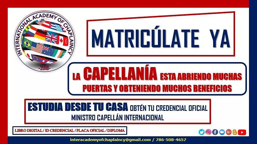 #MATRICULA #AIC #CAPELLANIA