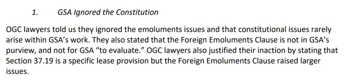 """""""GSA Ignored the Constitution"""""""