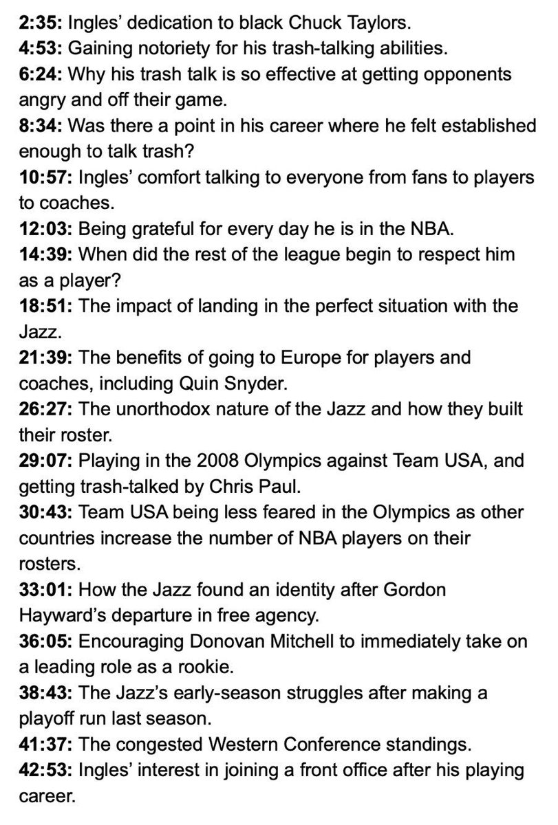 """""""If you went back in my first couple years, I definitely wouldn't have been blowing kisses to people because I think I shot 8 percent my first year or two."""" - @Joeingles7 on talking trash  Woj Pod: https://t.co/uFYHZH6HmC"""