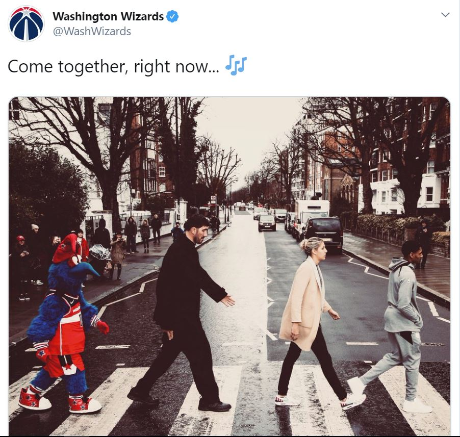 Who did it better? #AbbeyRoad #Beatles Wizards or Knicks @wusa9 @WUSA9sports