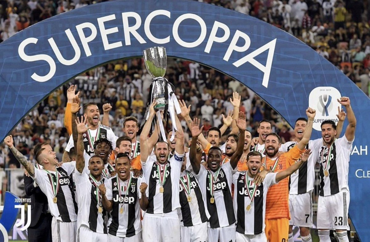 First title with @juventusfc 🏆   #SuperCoppa #EC23 #iCan #ForzaJuve