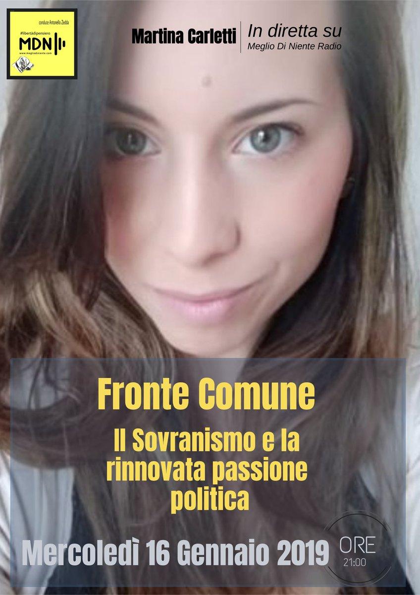 """⚡️ """"#frontecomune Martina Carletti del Fronte Sovranista Italiano"""""""