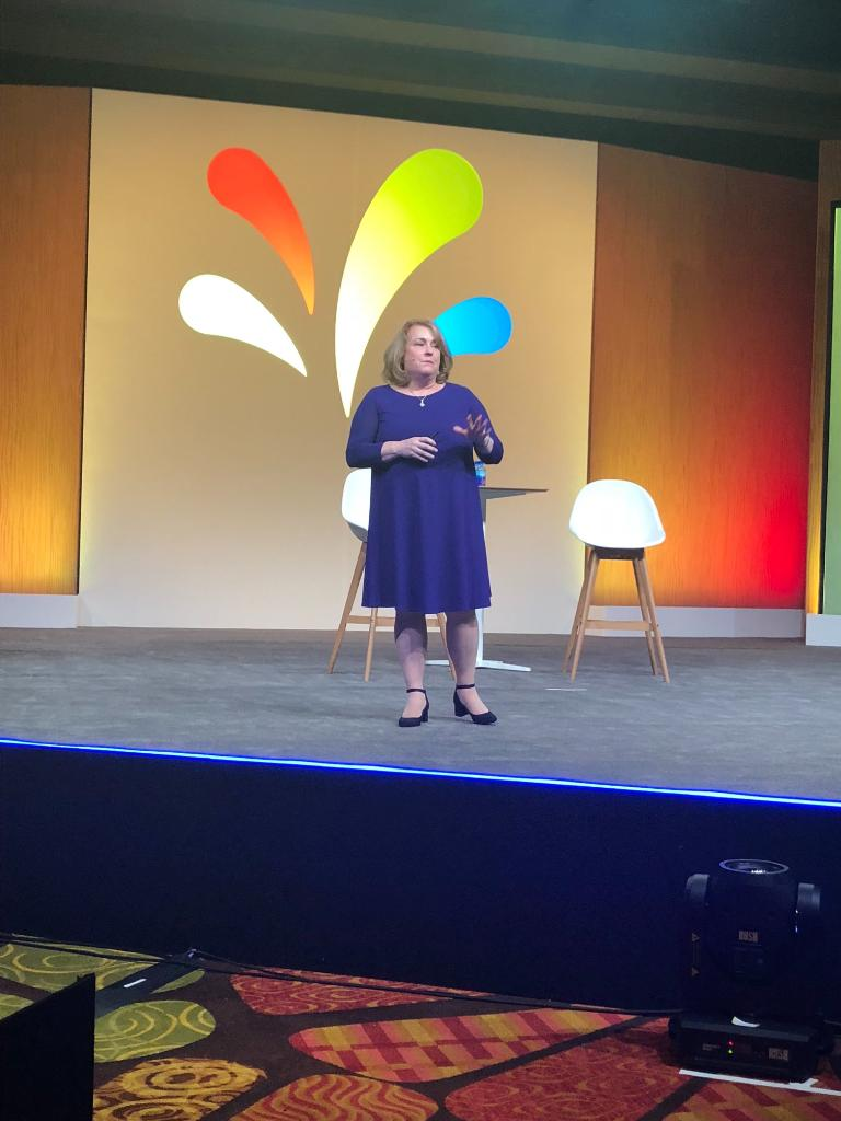 Thank you @DianaMOBrien, Global Chief Marketing Officer at @Deloitte, for your authentic and inspiring presentation at ASKO 2019! #SprinklrLife