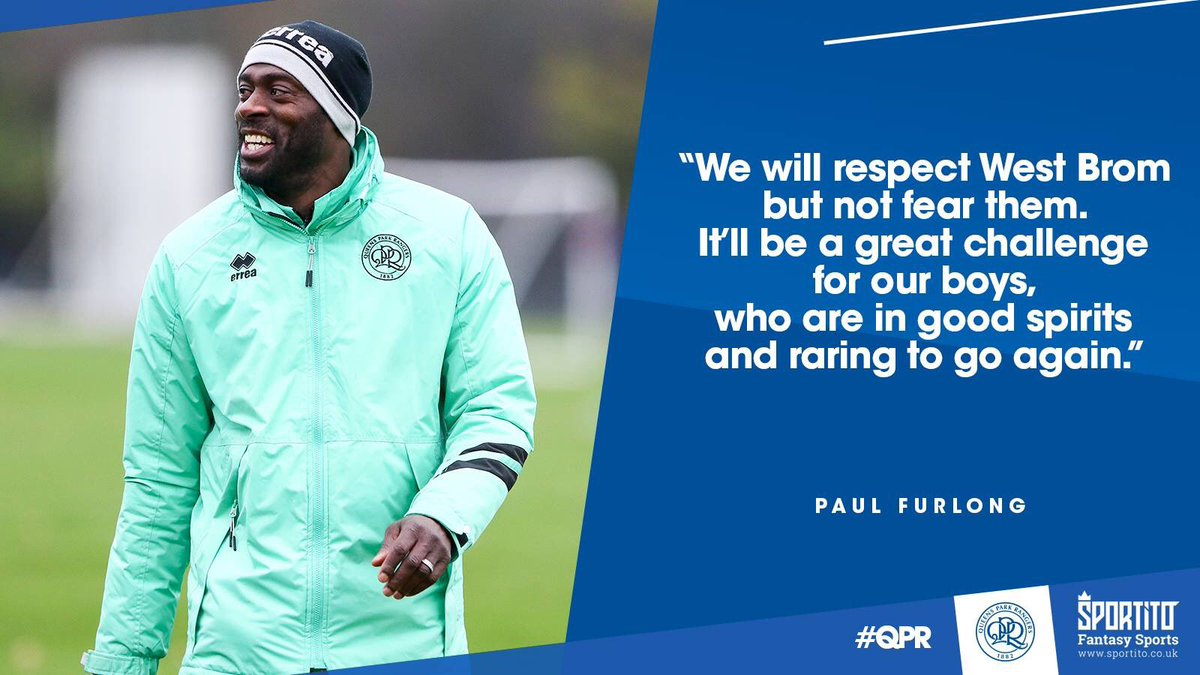 💬 High hopes for the Hawthorns.  Paul Furlong takes #QPRU18's to West Brom in the #FAYouthCup on Thursday night.  ▶️ https://t.co/RnRpZhquq8