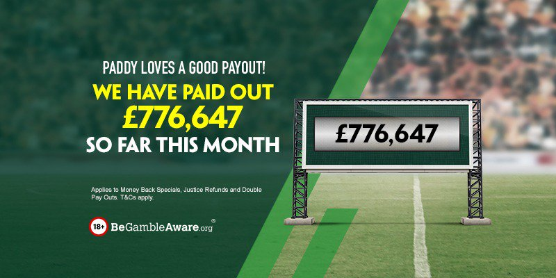 So far this month we have refunded £776,647 in free bets, thanks to Money Back Specials, Justice Refunds, and Double Pay Outs. https://t.co/Ly8obSYGK6