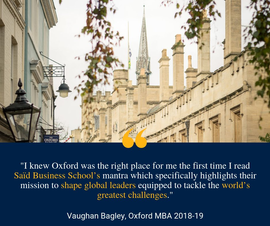 If you are interested in hearing more about life at Oxford Saïd, follow our MBA student Bloggers as they share their experiences and insights into the MBA programme! Read MBA student blogs here:https://t.co/gV8vawle3C
